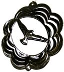 "4"" Mini Eagle Wind Spinner - Black Starlight Scalloped - Temporarily Out Of Stock 4 inch, 4"", wind spinners, made in usa"